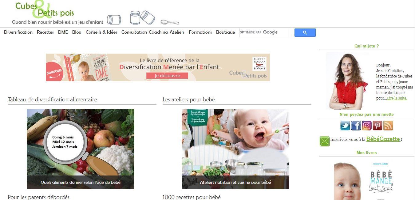 Cubes et Petits pois – le site de référence pour bien bien nourrir son bébé